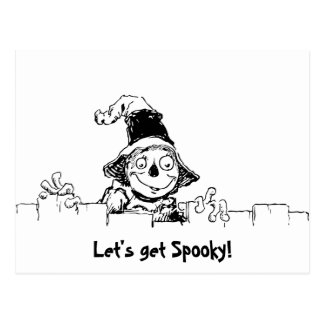 Funny Scarecrow with Halloween Message Postcards