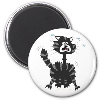 Funny Scared Black Cat Cartoon Halloween Refrigerator Magnets