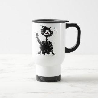 Funny Scared Black Cat Cartoon Halloween Coffee Mug