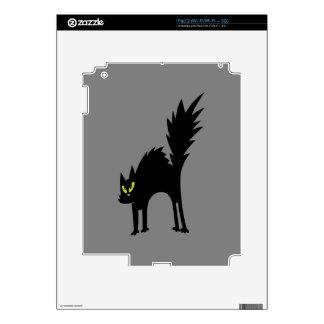 Funny Scared Black Cat Skin For iPad 2