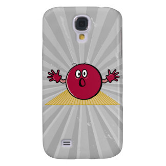 funny scared bowling ball going down alley cartoon samsung galaxy s4 case