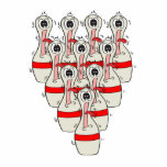 funny scared cartoon bowling pins cut out