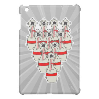 funny scared cartoon bowling pins iPad mini cases