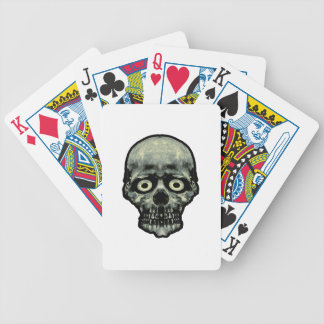 Funny Scared Skull Artwork Bicycle Playing Cards