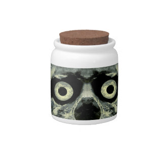 Funny Scared Skull Artwork Candy Dishes
