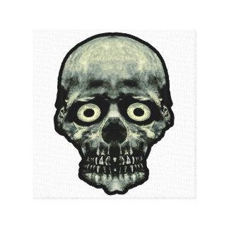 Funny Scared Skull Artwork Canvas Print