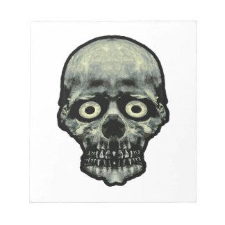 Funny Scared Skull Artwork Notepad