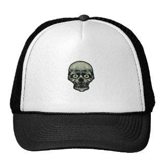Funny Scared Skull Artwork Trucker Hat
