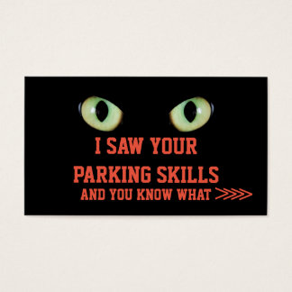 Funny scary animal look sarcasm parking card