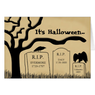 Funny Scary Halloween Card