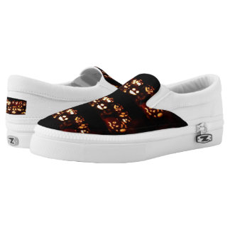 Funny Scary Halloween Party Pumpkins Slip-On Sneakers