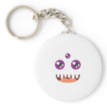 Funny Scary Monster Costume Halloween For Kids Keychain