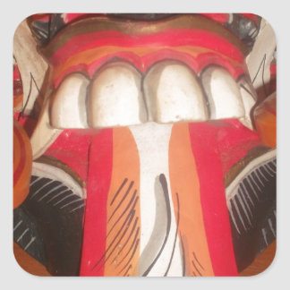 Funny Scary Weird Tongue  Asian Halloween Amazing  Square Sticker