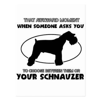 funny schnauzer Design Postcard