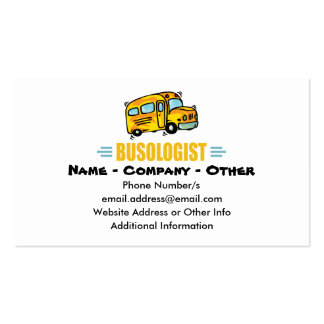 drive a school bus business cards templates zazzle. Black Bedroom Furniture Sets. Home Design Ideas