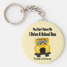 Funny School Bus Driver Key Ring Key Chain