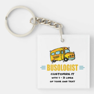 Funny School Bus Acrylic Keychain