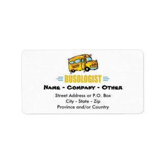 Funny School Bus Label