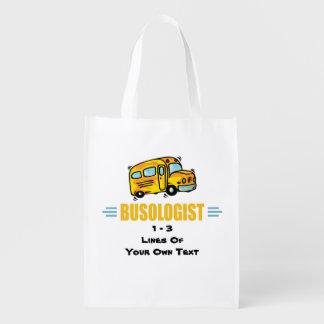 Funny School Bus Reusable Grocery Bag