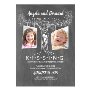 Funny School Photos Love Oak Tree Save The Date Magnetic Invitation