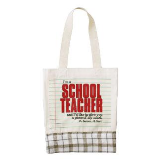 Funny Schoolteacher Custom Tote