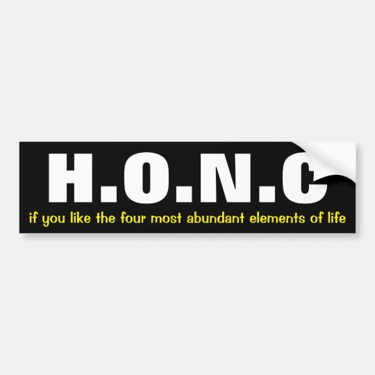 Funny science bumper sticker