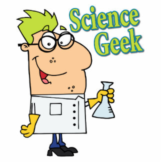 funny science geek cartoon character acrylic cut outs