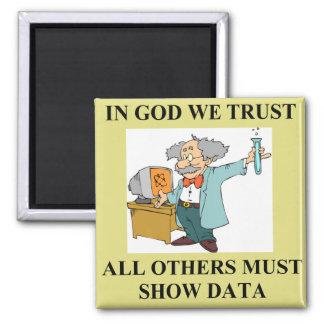 funny science joke 2 inch square magnet