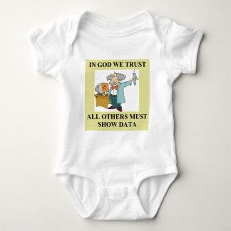 funny science joke baby bodysuit