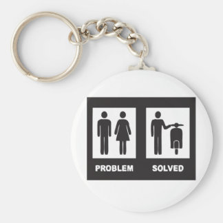 Funny Scooter Basic Round Button Keychain