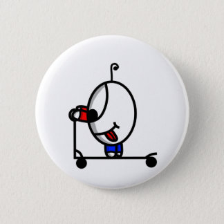funny scooter dude button