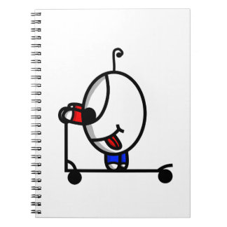 funny scooter dude notebook