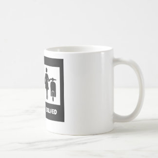 Funny scooter girl - no problem coffee mug