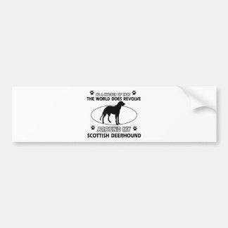 Funny scottish deerhound designs car bumper sticker