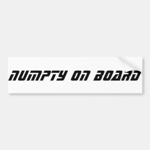 Funny Scottish Slang, Numpty Bumper Sticker