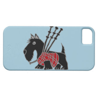 Funny Scottish Terrier puppy dog Playing Bagpipes iPhone 5 Covers