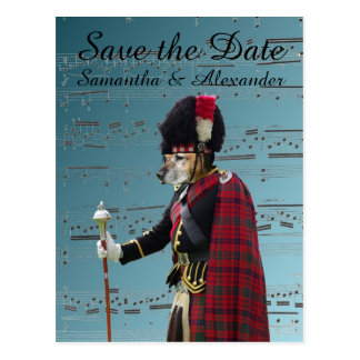Funny Scottish wedding save the date Postcard