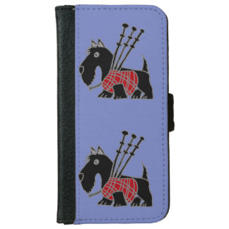 Funny Scotty Dog Playing Bagpipes Wallet Phone Case For iPhone 6/6s