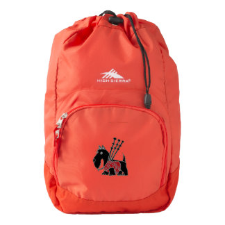 Funny Scotty Dog with Bagpipes High Sierra Backpack