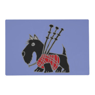 Funny Scotty Dog with Bagpipes Placemat