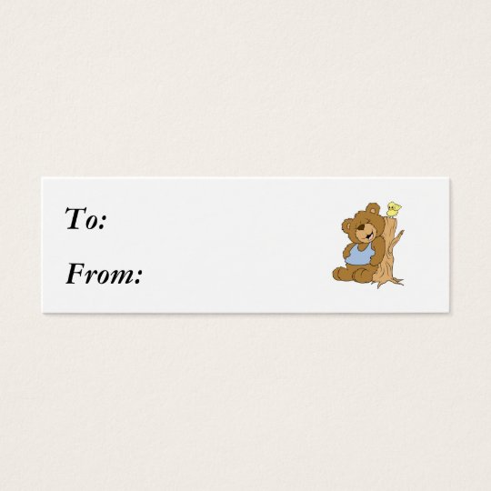 Funny Scratching Back Bear and Bird Mini Business Card