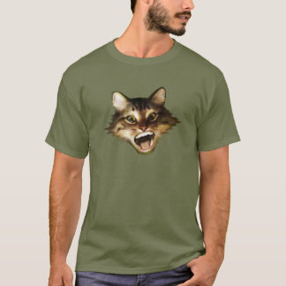 Funny Screaming Cat on Shirts