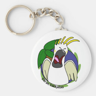 Funny Screaming Citron Cockatoo Keychain