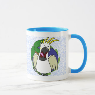 Funny Screaming Citron Cockatoo Mug
