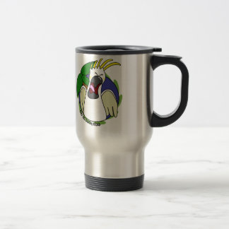 Funny Screaming Citron Cockatoo Travel Mug