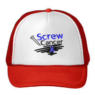 Funny Screw Anal Cancer Hats