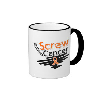 Funny Screw Kidney Cancer Ringer Coffee Mug