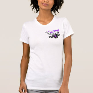 Funny Screw Pancreatic Cancer Tees