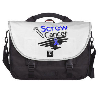 Funny Screw Rectal Cancer Laptop Bags