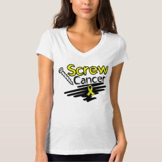 Funny Screw Testicular Cancer Tee Shirt